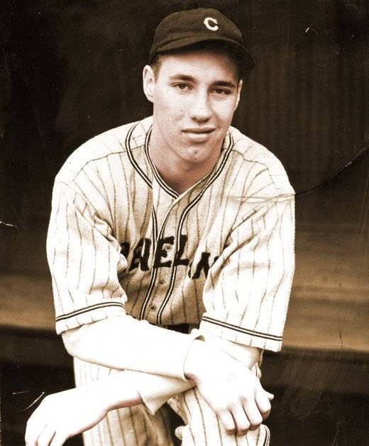 Bob Feller, famed fireballer, returned from war for part of the season