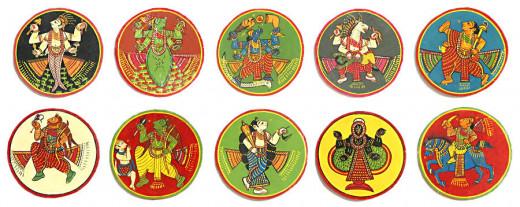 Indian Ganjifa Cards