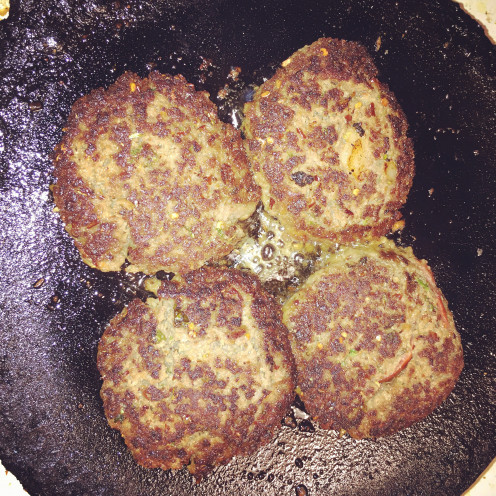 Chapli kababs on tawa (griddle)