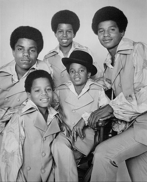 A 1969 photo of the Jackson 5 with the late Michael wearing a hat. The Campbell Connection is based on this group.