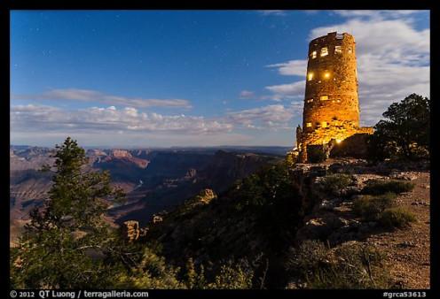 Desert View Watchtower At Dusk