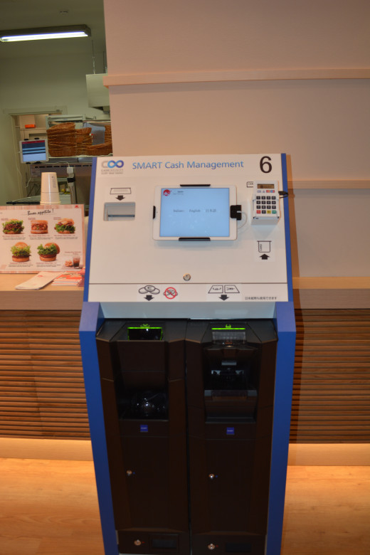 Machine that takes your order at the Food Court