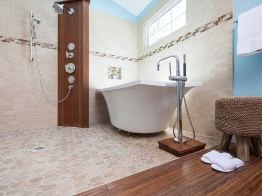 The bathroom is the most common place in the house to find the heated floors.
