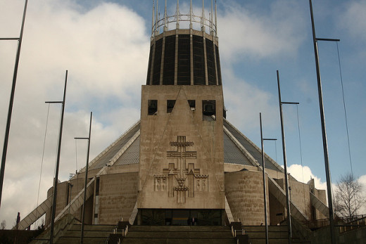 The unusual Catholic Cathedral, Liverpool
