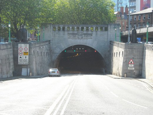 Entrance to the Queensway Tunnel, Liverpool