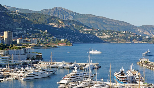 La Condamine, Monaco. Know for its harbour and moored expensive yachts, the area is also the second oldest of Monaco.