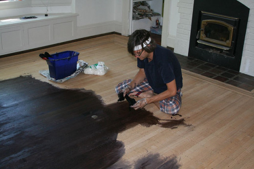 Polish, paint or stain your floorboards.