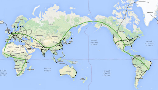 Concept map of a global ET3 tube network.