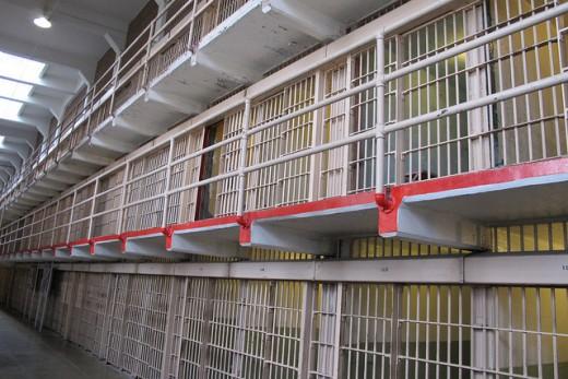 Cell Blocks At Alcatraz Prison