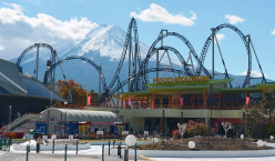 The Scariest Rollercoaster Rides at Fuji-Q Highland Theme Park in Yamanashi, Japan