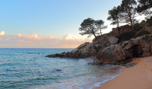 The sun goes down in Costa Brava