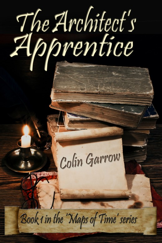 Cover design for 'The Architect's Apprentice' by Colin Garrow