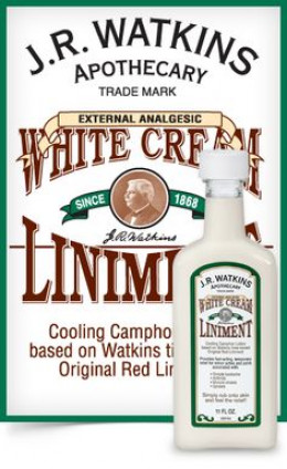 JR Watkins cooling white cream liniment, re-tweaked up from the traditional red  liniment.