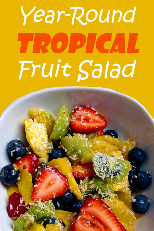 Fresh Tropical Fruit Salad Recipe you can make all year long!