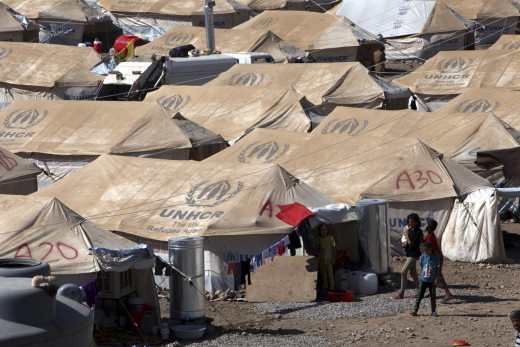 Syrian Refugees in UN Camps