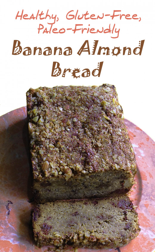 Healthy, Gluten-free, Paleo-friendly Banana Almond Bread recipe