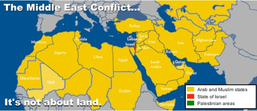 Israel is 90 miles wide and 120 miles long. Is giving up more land to their enemies a good idea? Common sense, obviously missing, is hard to apply to this sticky subject. But all nations are coming against Israel including the U.S.