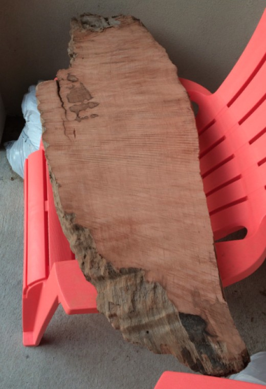 This is what the bottom of the slab looked like before I put a protective seal on it.