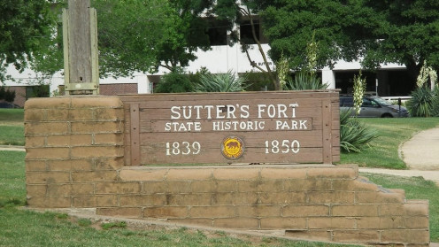 Sign In Front Of Sutter's Fort