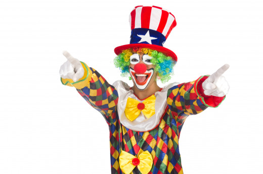 The 2016 Presidential campaign is shaping up to be the World's Best Performance by the 1% that we are sure to ever see.  And the leading Clown, we are still unsure as to whether he is simply America's next Commander and Chief Class Clown or God's Tru