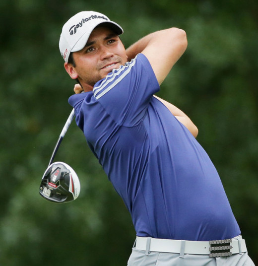 Jason Day tees off during the final round at The Barclays.