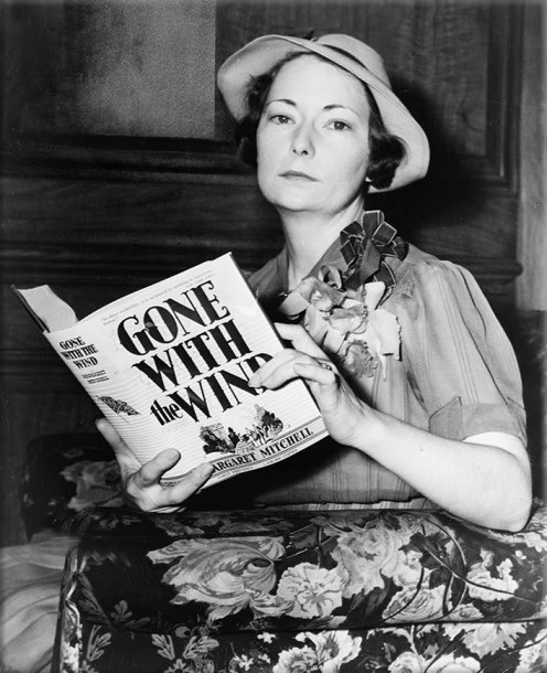 "Margaret Mitchell With Copy Of ""Gone With The Wind"""