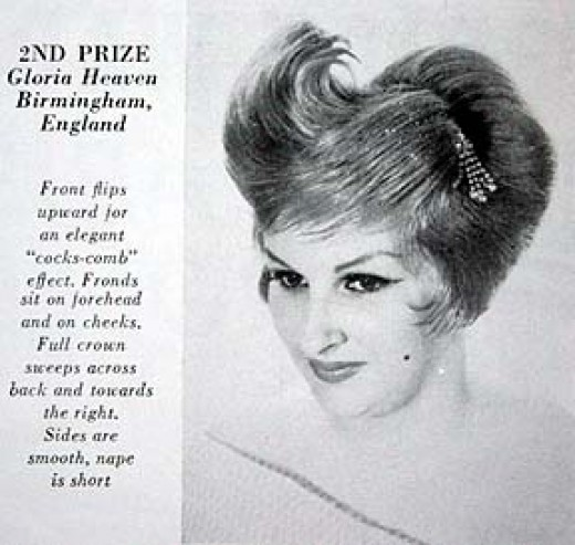 Check out this 1960s Bridal Hairdo which won 2nd prize in a contest in England.