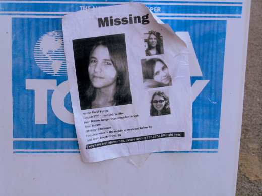 Yes, this is an actual missing persons poster.