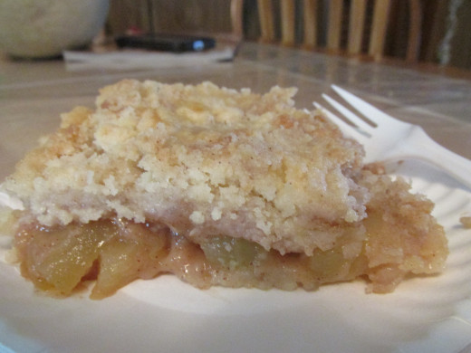 Zucchini cobbler ready to eat