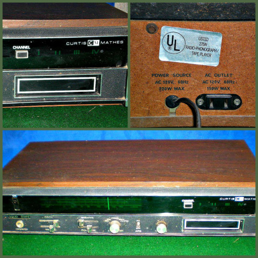 This Curtis Mathes 8 track player and receiver has been a daily player and receiver for over 40 years.  It has all the same original hardware that it came with from the Factory.
