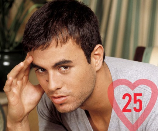 Enrique Iglesias - A male celebrity who didn't give up his virginity until reaching adulthood.