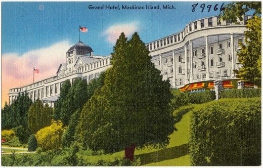 The Grand Hotel (between circa 1930 and circa 1945) in Mackinac Island, Michigan where the story takes place.