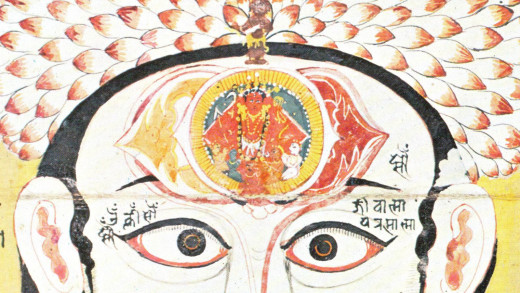 "In Hindu, the ""Ajna"" positioned in the brain represents the eye of intuition and intellect. It is where our brain power coming from."