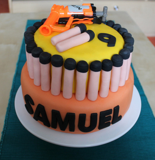 Amazing NERF birthday cake