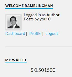 This is my initial payment status, no posts writen so far.