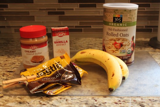 Just five ingredients for easy to bake banana oatmeal cookies!