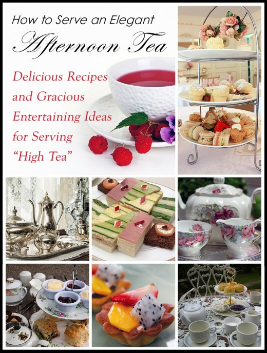 "Learn how to serve a gracious casual or formal afternoon tea service with these delicious recipes and elegant entertaining ideas for serving ""high tea"""
