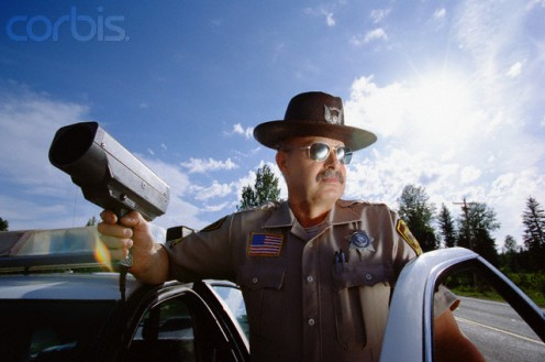 A state trooper who intentionally takes his time to punish you for speeding.