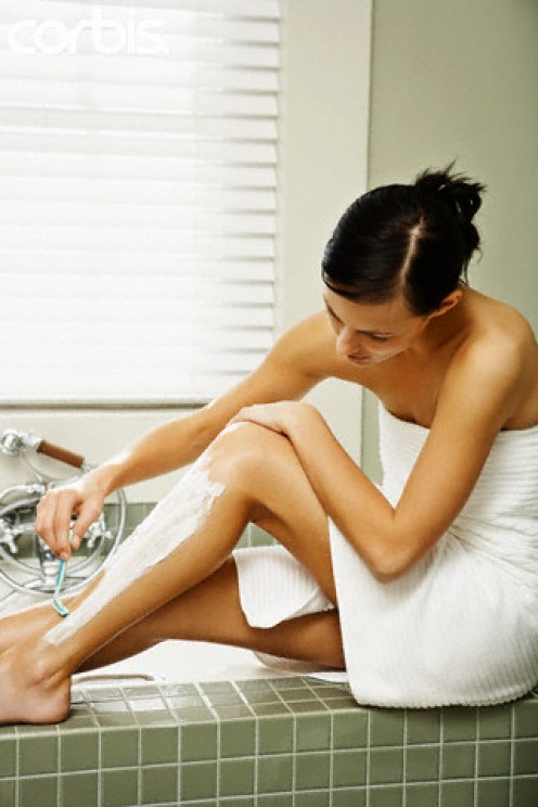 What did women shave their legs with before razors were invented?