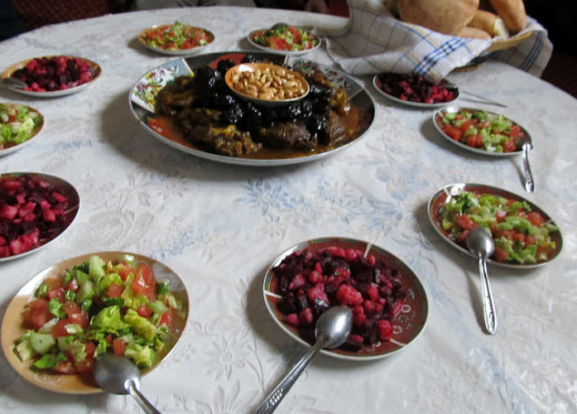 A homemade tajine with lots of side dishes for your fussy eater to choose from is a great idea