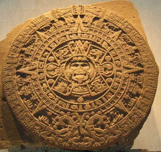 The Aztec calendar. Don't tell any conspiracy theorists about it! Shhhh.