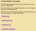 Calorie Deficit Calculator and WebApp