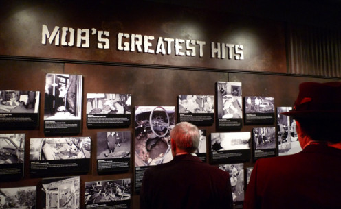 Mobs Greatest Hits Display At Mob Museum