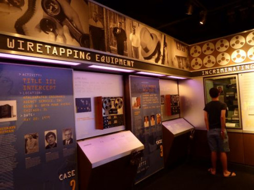 Wiretapping Exhibit At Mob Museum