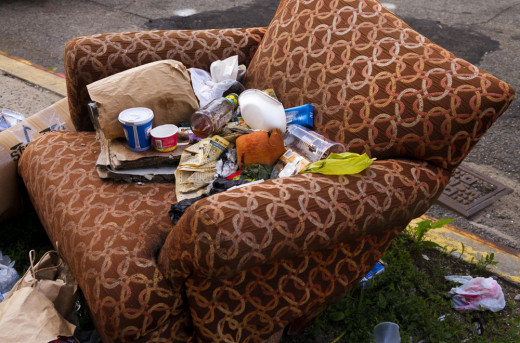 Would you rather hold a conversation sitting in a chair full of trash or in a clean, sanitary place?
