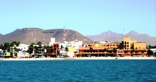 A section of waterfront in the heart of La Paz...