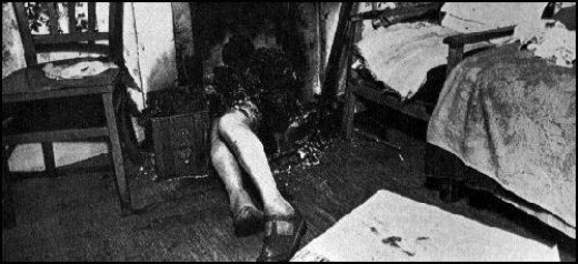 A scene of Spontaneous Human Combustion