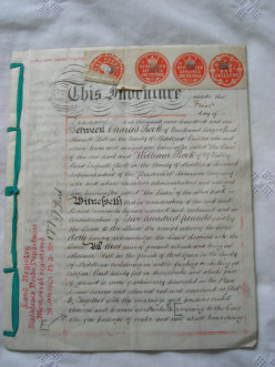 Collectable Ephemera - Copperplate Manuscript Legal Documents