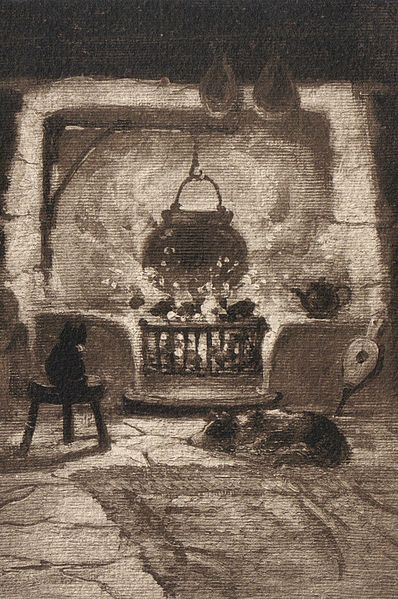 Cerridwen was thought to be associated with the cauldron at the hearth-side and is therefore considered a kitchen goddess.