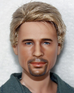 BRAD PITT by Laurie Everton - Now Appearing Live On eBay